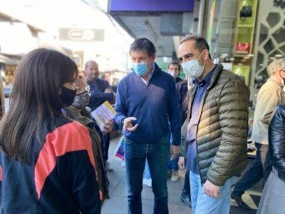 Tagliaferro y Posse de campaña por Morón centro