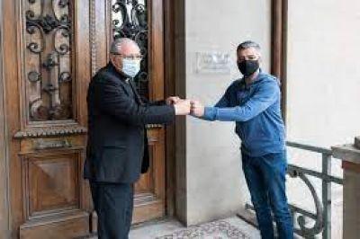 Mons. Ojea recibió al ministro de Desarrollo Social, Juan Zabaleta