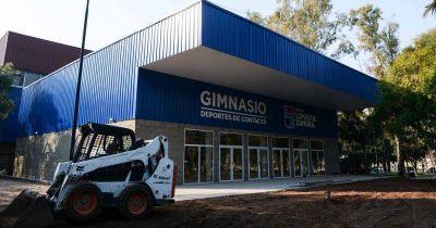 Encaran la etapa final de la obra del nuevo gimnasio del Parque de Lomas