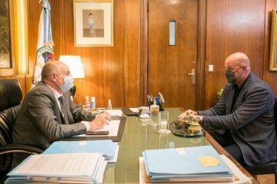El Ministro de Transporte Alexis Guerrera recibió a Leonardo Salom