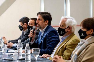 Watson y Trotta en la apertura del 1º Congreso Educativo Municipal Interdisciplinario