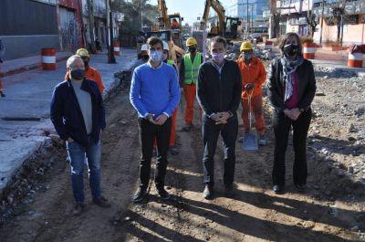 Katopodis y Ghi supervisaron el avance de obras de repavimentación en Morón