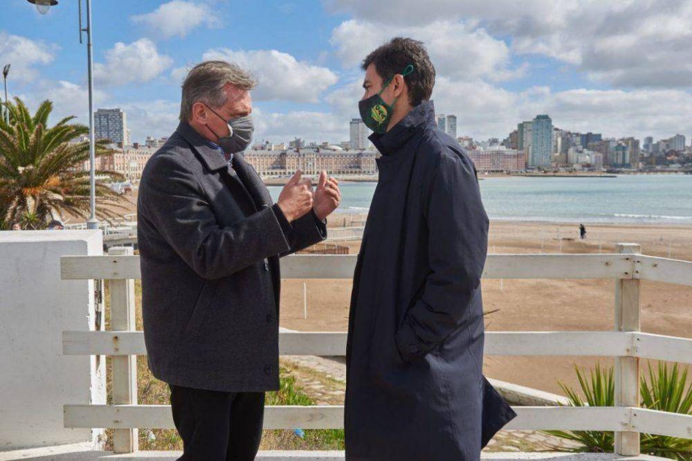 Urtubey visitó Mar del Plata y le brindó fuerte respaldo a Pulti