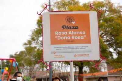 Juan José Mussi y Federico López visitaron la plaza Doña Rosa