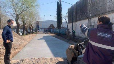 La nueva Costanera de Campana sigue sumando obras y mejorando sus accesos