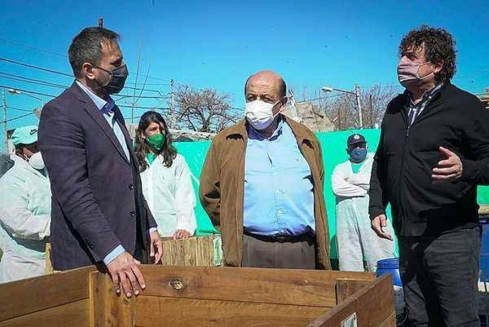 Cabandié recorrió junto a Mussi centros de reciclaje en Berazategui