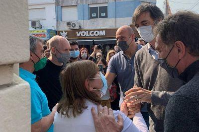 Diego Santilli sumó a su campaña a Rodríguez Larreta en una caminata por Florencio Varela