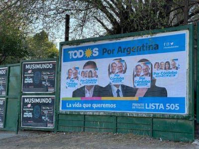 Caserio apuntó contra Schiaretti por la vandalización de carteles del Frente de Todos en Villa Carlos Paz
