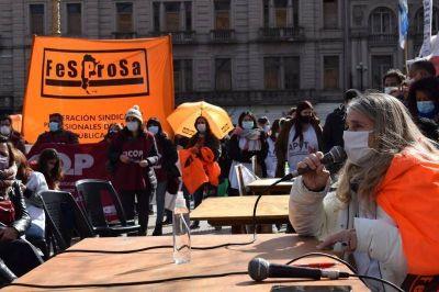 Fesprosa insiste en una paritaria nacional de salud y pide discutir condiciones laborales en todo el país