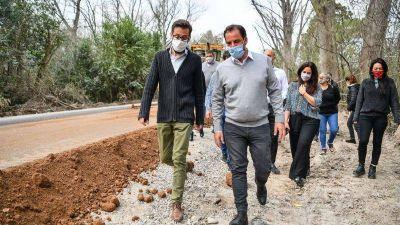 Sujarchuk y Simone recorrieron trabajos de pavimentación y firmaron un convenio para financiar más obra pública