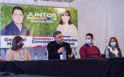 Elecciones 2021: Jorge Macri de campaña en Marcos Paz y Merlo para apoyar a los candidatos de Juntos