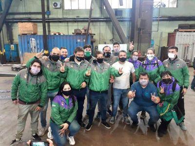 Sindicalistas acompañaron a los candidatos porteños del oficialismo en el Día de la Industria