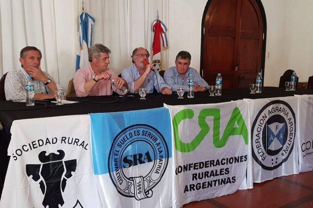 En medio del conflicto por el cepo a la carne, la Mesa de Enlace visitará Córdoba