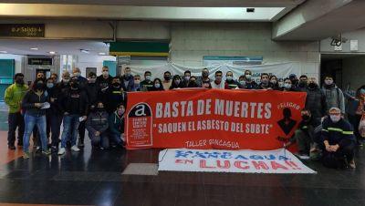 En su aniversario, los metrodelegados volvieron a reclamar el retiro del asbesto de los subtes