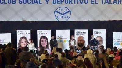 Julio y Gisela Zamora presentaron la lista de unidad del Frente de Todos junto a la comunidad de El Talar