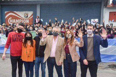 Hurlingham   Alberto Fernández recorrió una fábrica de mermeladas junto a Selci, Zabaleta, Rodríguez y Tolosa Paz