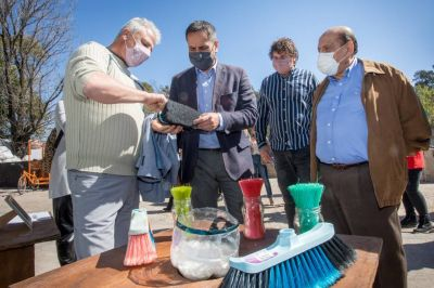 Mussi y Cabandié en los centros de reciclado