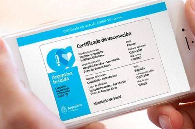 El carnet digital de la aplicación Mi Argentina será la acreditación internacional de la vacunación contra el COVID-19