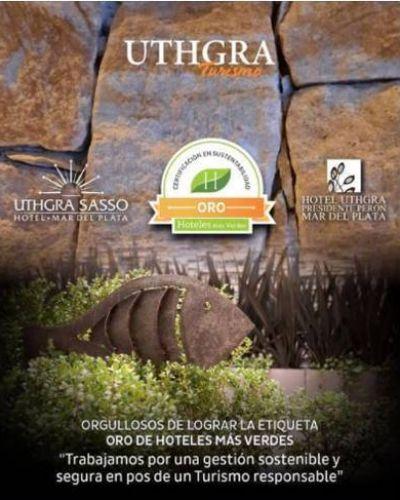 Ecoetiqueta Oro de Hoteles más Verdes para el Sasso y el Presidente Perón de la UTHGRA