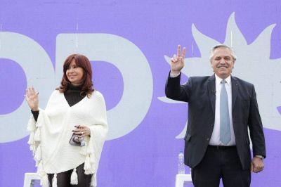 Alberto Fernández y Cristina Kirchner buscarán construir una foto de unidad en el cierre de campaña