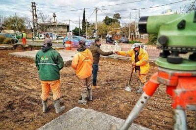"""Gray, en las obras de Fair-Valette: """"Estamos renovando un acceso central de nuestro distrito"""""""