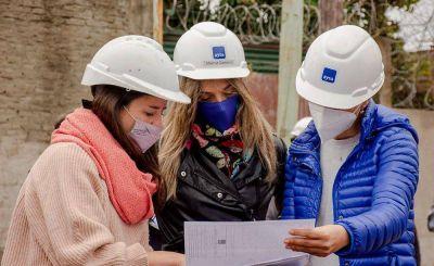 Galmarini y Mendoza Recorrieron una obra de agua potable que es llevada adelante, en su mayoría, por mujeres