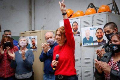 Magdalena Sierra participó de un acto con el Polo Productivo de la CTA en Avellaneda