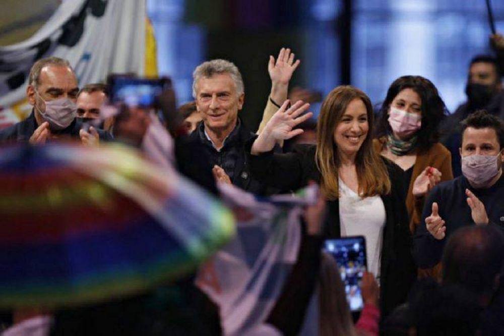 Vidal cerró su campaña junto a Macri y Larreta: «Este Gobierno nos estafó»