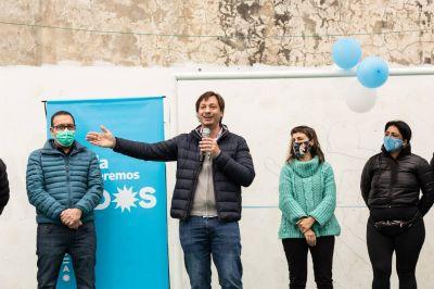 Luis Vivona junto a Lucas Boyanovsky y Erica Pereyra en Vicente López