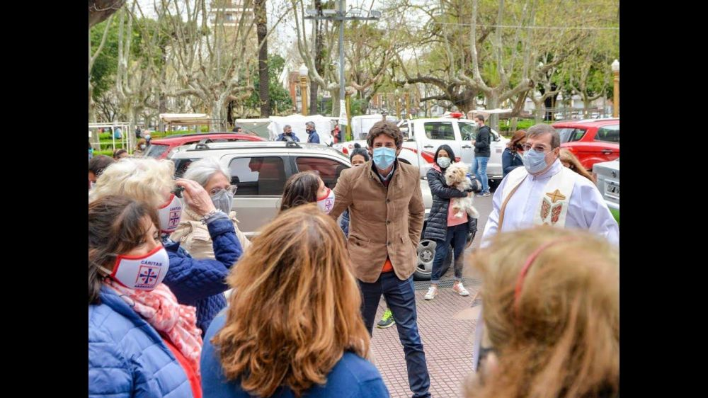 Juan Andreotti acompañó la fiesta patronal de Nuestra Señora de Aránzazu