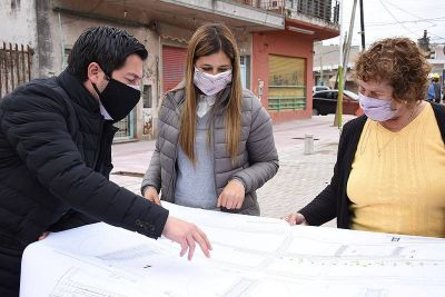 Embellecimiento urbano en el centro de Adolfo Sourdeaux