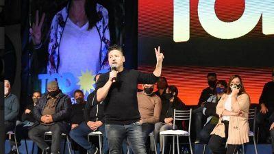 Gustavo y Karina Menéndez cerraron la campaña del Frente de Todos de Merlo
