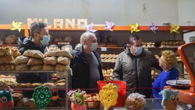 Rabinovich, Muro y Montenegro cerraron la campaña en una panadería