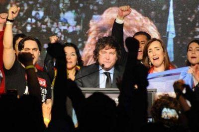 Milei salió con un discurso triunfalista tras el resultado de las PASO