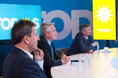 Tras su acto en el conurbano, Alberto Fernández se reúne con Máximo Kirchner e intendentes del PJ