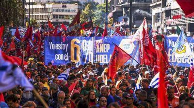 Paro general en Uruguay convocado por la central sindical