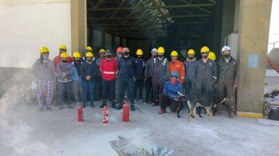 Personal del GIRSU se capacitó en prevención de incendios