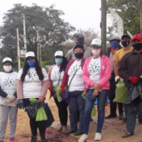 Voluntarios limpiaron la Isla Apipé y juntaron 160 kilos de residuos