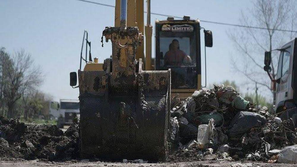 Merlo: ACUMAR y el municipio supervisan las tareas de mantenimiento y perfilado de arroyos
