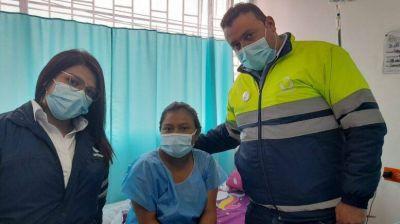 Trabajadores de Urbaser atienden parto de emergenciaImagen de Urbaser