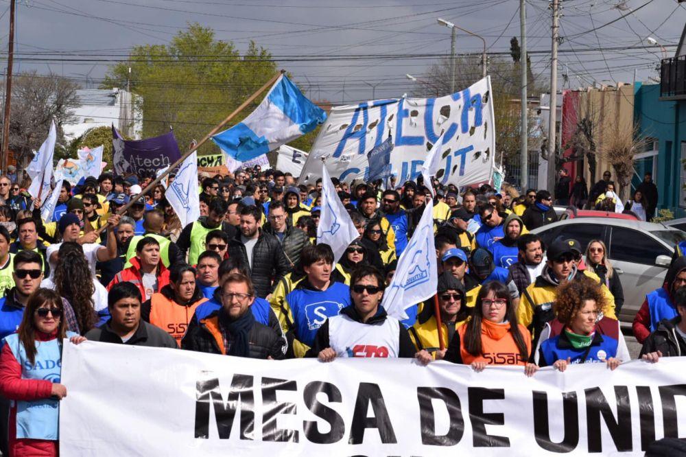 Chubut: Estatales ratifican paro para el viernes si no logran respuestas del Gobierno