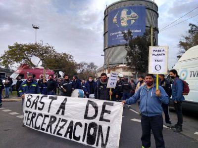Trabajadores del gas mantienen paro y se concentran en General Paz y De los Constituyentes