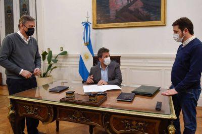 Massa firmó una resolución para volver a la actividad presencial en la Cámara de Diputados