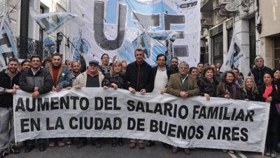 Sindicatos porteños piden equiparar las asignaciones familiares a los valores que paga Nación