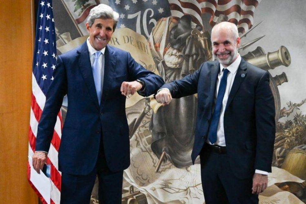 Larreta se reunió con Kerry y lo invitó a la Cumbre de Alcaldes en la Ciudad