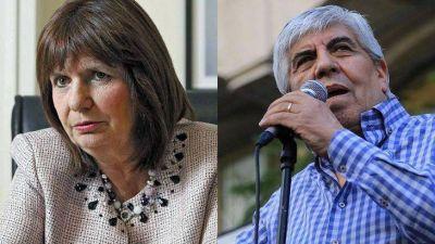 Fuerte cruce entre Patricia Bullrich y Hugo Moyano: