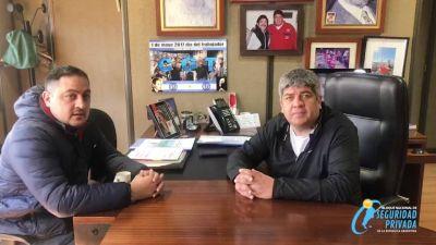 Los Custodios de Christian López reciben el apoyo de Pablo Moyano en el armado de unidad del Bloque Nacional de Seguridad Privada