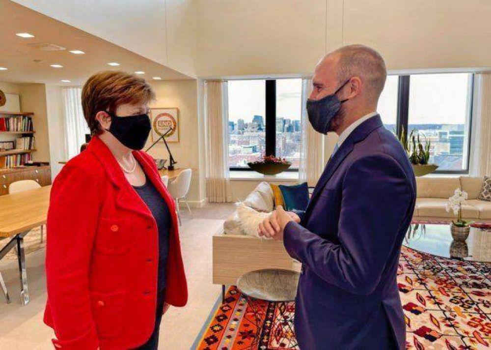 Martín Guzmán en Washington: con las miradas hacia Georgieva y la discusión por las tasas