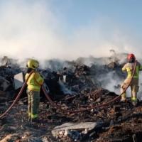 Extinguen incendio en el Girsu Rawson tras 3 horas de combate