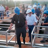 Se inauguró la nueva toma para la distribución de agua en Iguazú